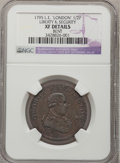 Colonials: , 1795 1/2P Washington Liberty & Security Halfpenny, LONDONEdge--Bent--NGC Details. XF. Baker-31. NGC Census: (2/4). PCGSPo...
