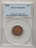 Proof Indian Cents: , 1895 1C PR64 Brown PCGS. PCGS Population (26/9). NGC Census:(19/27). Mintage: 2,062. Numismedia Wsl. Price for problem fre...