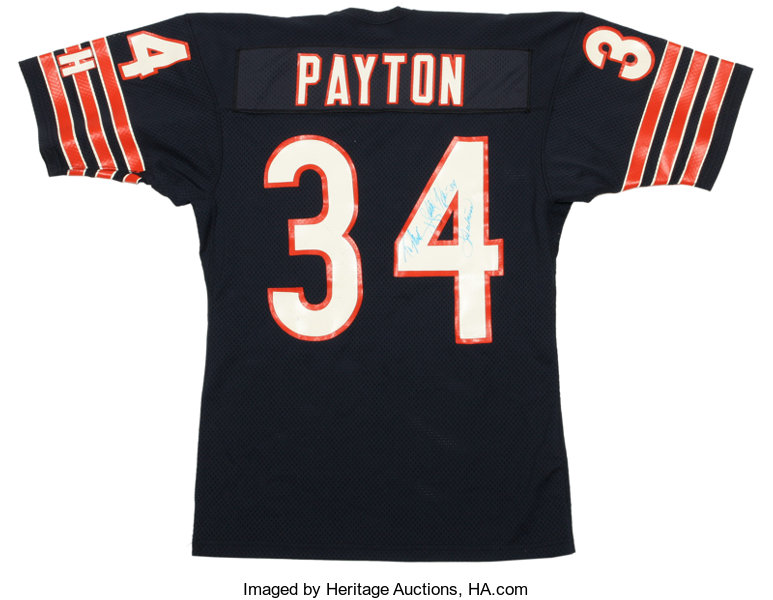 7690dac393c real infant nike walter payton navy chicago bears game jersey e0d4b 93433   coupon for from football collectiblesballs 1985 86 walter payton signed  team ...