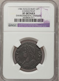 Colonials, 1786 COPPER Connecticut Copper, Mailed Bust Left--EnvironmentalDamage--NGC Details. XF. M. 5.5-M, W-2595, R.3....