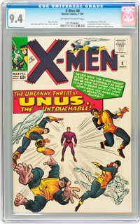 X-Men #8 (Marvel, 1964) CGC NM 9.4 Off-white to white pages