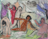 BOB (ROBERT LOUIS) THOMPSON (American, 1937-1966) Untitled, 1961 Mixed media on paper 15 x 16 in