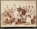 Football Collectibles:Photos, 1895 Football Team Imperial Cabinet Photograph....