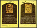 Baseball Collectibles:Others, Sandy Koufax and Hank Greenberg Signed Hall of Fame PlaquePostcards. ...