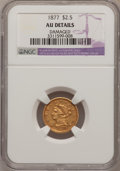 Liberty Quarter Eagles: , 1877 $2 1/2 --Damaged--NGC Details. AU. NGC Census: (4/81). PCGSPopulation (9/55). Mintage: 1,652. Numismedia Wsl. Price fo...