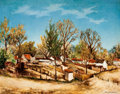 Fine Art - Painting, American:Contemporary   (1950 to present)  , SIDNEY LAUFMAN (American, 1891-1985). Village Landscape .Oil on canvas . 25 x 32-1/4 inches (63.5 x 81.9 cm). Signed lo...