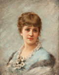 Paintings, PROPERTY OF A LADY. EMILE EISMAN-SEMENOWSKY (Polish, 1838-1938). Portrait of a Lady. Oil on panel. 12-1/2 x 9-3/4 inch...