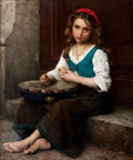 Paintings, ALFRED GUILLOU (French, 1844-1926). Peasant Girl . Oil on canvas . 36 x 30 inches (91.4 x 76.2 cm). Signed lower right: ...