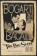 "Movie Posters:Crime, The Big Sleep (Dominant Pictures, R-1956). Poster (40"" X 60"").Crime. ..."
