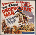 "Movie Posters:Western, Undercover Man (United Artists, 1942). Six Sheet (81"" X 81""). Western. ..."
