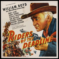 "Riders of the Deadline (United Artists, 1943). Six Sheet (81"" X 81""). Western"