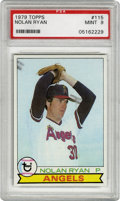 Baseball Cards:Singles (1970-Now), 1979 Topps Nolan Ryan #115 PSA Mint 9. The undisputed king of theno-hitter and the strikeout, appears here for his entry i...