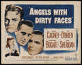 "Movie Posters:Crime, Angels With Dirty Faces (Warner Brothers, R-1948). Half Sheet (22""X 28""). Crime. ..."