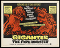 "Movie Posters:Science Fiction, Gigantis the Fire Monster (Warner Brothers, 1959). Half Sheet (22""X 28""). Science Fiction. ..."