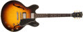 Musical Instruments:Electric Guitars, 1958 Gibson ES 335 Sunburst Electric Guitar, #A27626....