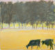 WOLF KAHN (American, b. 1927) Landscape with Cows Oil on canvas 18 x 20 inches (45.7 x 50.8 cm) Signed lower left: