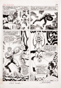 Original Comic Art:Panel Pages, Jack Kirby and Herb Trimpe Marvel Treasury Special #1Featuring Captain America's Bicentennial Battles ...
