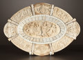Decorative Arts, Continental:Other , A CONTINENTAL CARVED IVORY CHARGER . Maker unknown, probablyGermany, circa 1870-1890. Unmarked. 1-3/4 x 11-3/4 x 8-3/8 inch...