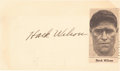 Autographs:Post Cards, 1935 Hack Wilson Signed Government Postcard....