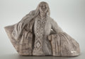 Western, FROM THE COLLECTION OF SUSAN & ALLEN COLES. CLIFF FRAGUA (American, 20th Century). Shawl Dance. Alabaster. 20 x 32 inc...
