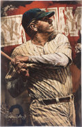 Baseball Collectibles:Others, Circa 2000 Babe Ruth Serigraph by Stephen Holland....