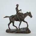 Sculpture, CHARLES MARION RUSSELL (American, 1864-1926). Will Rogers. Bronze. 10-1/4 x 11 x 5 inches (26.0 x 27.9 x 12.7 cm). Signe... (Total: 2 Items)