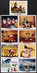 "Movie Posters:Animated, Pinocchio (RKO, R-1978). Lobby Card Set of 9 (11"" X 14""). Animated.Starring Dick Jones, Cliff Edwards, Walter Catlett, Evel... (Total:9 Items)"