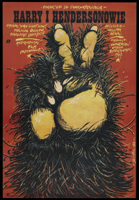 """Harry and the Hendersons (Universal, 1987). Polish One Sheet B1 Vertical (26.4"""" X 27.25""""). Comedy"""