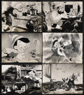 "Movie Posters:Animated, Pinocchio (RKO, R-1978). Stills (6) (10"" X 13""). Animated. ... (Total: 6 Items)"