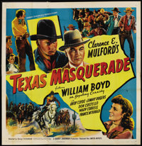 "Texas Masquerade (United Artists, 1944). Six Sheet (81"" X 81""). Western"