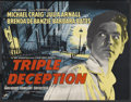 "Movie Posters:Crime, Triple Deception (Rank, 1956). British Half Sheet (22"" X 28"").Crime. ..."