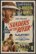 "Movie Posters:Adventure, Sanders of the River (United Artists, 1935). Australian One Sheet(27"" X 40""). Adventure. ..."
