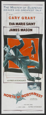 "North by Northwest (MGM, 1959). Insert (14"" X 36""). Hitchcock"