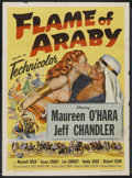 "Movie Posters:Adventure, Flame of Araby (Universal International, 1951). One Sheet (27"" X41""). Adventure. ..."