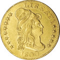 Early Half Eagles, 1800 $5 --Cleaned--Uncertified. AU55 Details....