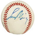 Autographs:Baseballs, Leonard Nimoy Single Signed Baseball. Now who among you can boast asingle signed baseball from the actor who played Star T...