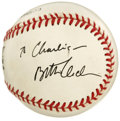 Autographs:Baseballs, Bette Midler Single Signed Baseball. For fans of the Divine Miss Mwe provide this splendid collectible that was signed on ...