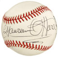 Autographs:Baseballs, Maureen O'Hara Single Signed Baseball. The Irish leading lady knownfor her fiery red hair, Maureen O'Hara was an iconic ac...