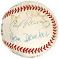 Autographs:Baseballs, New York City Basketball Hall of Fame Multi-Signed Baseball. Signedat the 5th annual induction dinner for the New York Cit...