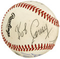 Autographs:Baseballs, Madison Square Garden Hall of Fame Greats Multi-Signed Baseball.Eight Hall of Fame greats who have plied their trade at Ne...