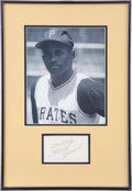 Autographs:Index Cards, Circa 1970 Roberto Clemente Signed Index Card....