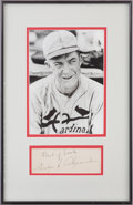 Autographs:Others, 1930's Grover Cleveland Alexander Signed Page....