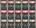 Baseball Cards:Sets, 1910-12 P2 Sweet Caporal Baseball Pins High Grade Complete Set(204) - With Mint 9 Cy Young (Pop 1). ...