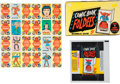 "Non-Sport Cards:Sets, 1966 Topps ""Comic Book Foldees"" Complete Set (44), Display Box andWrapper...."