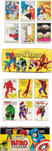 """Non-Sport Cards:Sets, 1965 Philadelphia """"Marvel Super Heroes"""" Stickers and 1966 Donruss""""Marvel Super Heroes"""" Complete Sets, Wrappers and Display Bo..."""