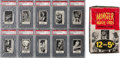 """Non-Sport Cards:Sets, 1963 Topps """"Monster Laffs"""" Midgee High Grade 1st Series CompleteSet (108) Plus Display Box, Wrapper and Panel. ..."""