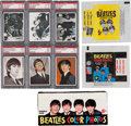 Non-Sport Cards:Sets, 1964 Topps Beatles Collection With Three Complete Sets, Display Box and Three Wrappers. ...
