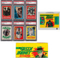 "Non-Sport Cards:Sets, 1966 Greenway/Topps ""Green Hornet"" Stickers High Grade Complete Set(44) Plus Display Box and Wrapper. ..."