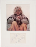 Movie/TV Memorabilia:Autographs and Signed Items, Marilyn Monroe Autograph....