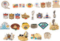 Football Collectibles:Others, 1972-99 Super Bowl Press Pins Lot of 26....